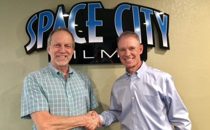 Marc Havican and Steve Owens at Space City Films