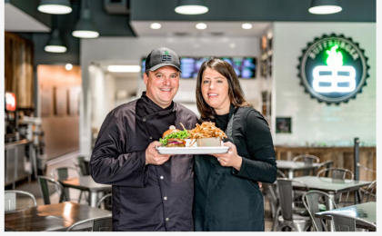 Paul and Sara Burden, owners of Houston-based BuffBurger