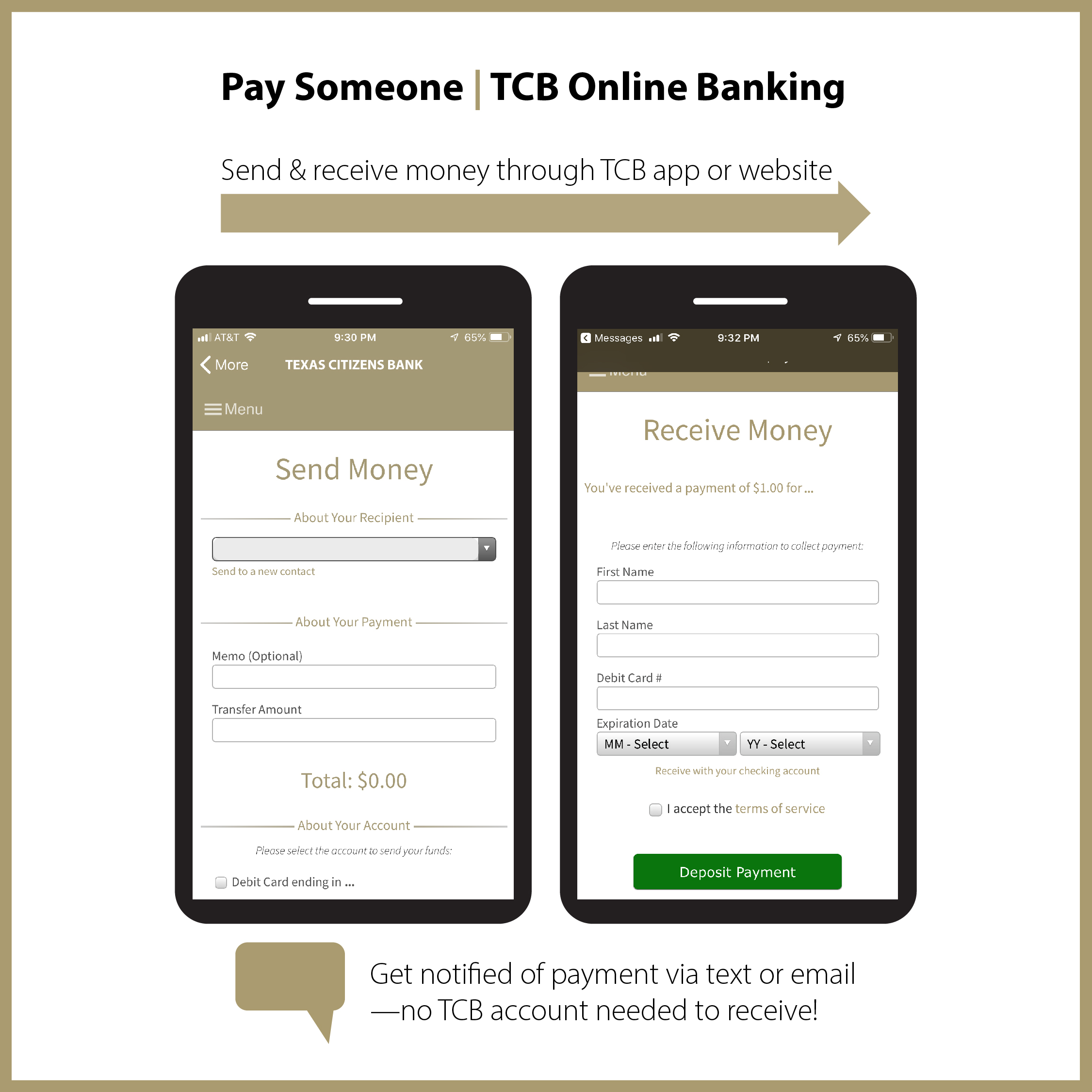"""How Texas Citizens Bank's """"Pay Someone"""" Compares to Venmo"""