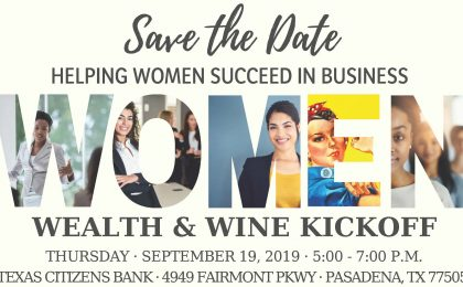 Women, Wealth & Wine Event in Pasadena, Sept. 2019