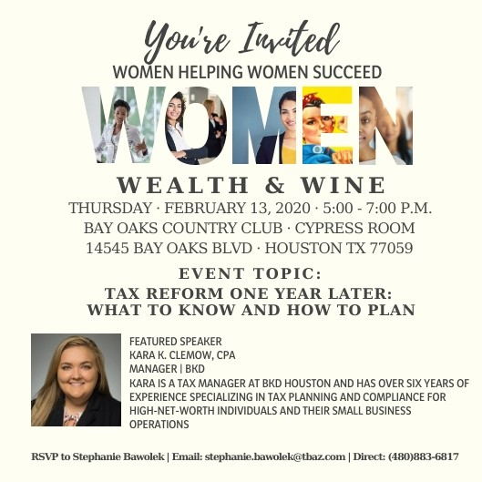 Women, Wealth & Wine event comes to Clear Lake