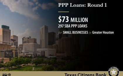 PPP SBA Loans in Houston Texas, Round 1